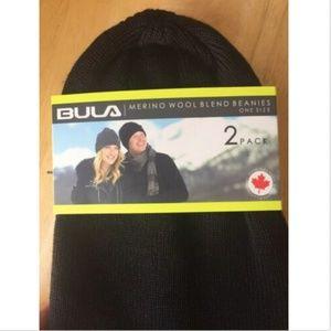 New Bula Unisex 2 Pack Merino Wool Blend Beanies